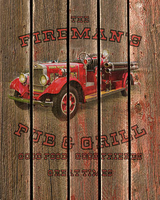 Photograph - Fireman's Pub And Grill by TL Mair