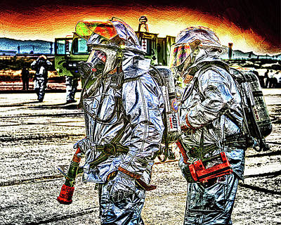 Asbestos Digital Art - Firemen by Darrell Mcgahhey
