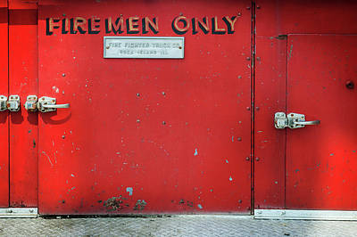 Photograph - Firemen Only by Bud Simpson