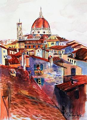 Painting - Firenza Doumos Italy by Therese Fowler-Bailey
