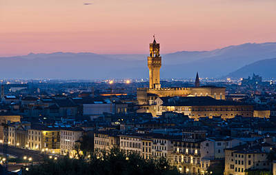 Firenze At Sunset Print by Pablo Lopez