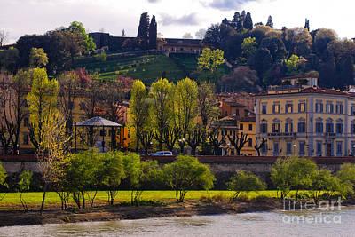 Photograph - Firenze - Italy - Arno River - Piazza Giuseppe Poggi by Carlos Alkmin