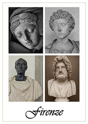 Photograph - Firenze Statues Poster by Patricia Strand