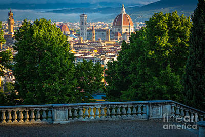 Tuscan Hills Photograph - Firenze Vista by Inge Johnsson