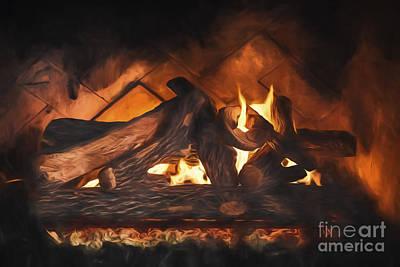 Fireplace  ... Art Print
