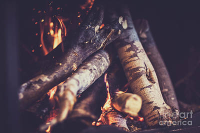 Photograph - Fireplace by Anna Om