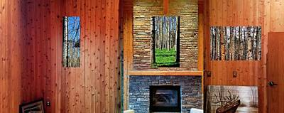 Photograph - Fireplace Aspens 31 by Jerry Sodorff
