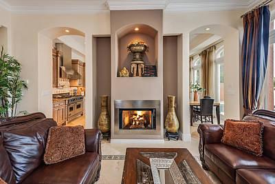 Photograph - Fireplace by Jody Lane