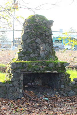 Photograph - Fireplace Stories by Marie Neder