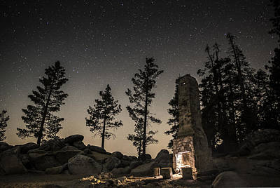 Galatic Photograph - Fireplace Under The Stars by Tony Fuentes