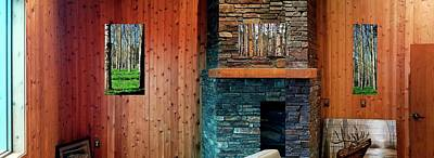 Photograph - Fireplace Walls Aspens by Jerry Sodorff