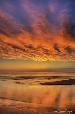 Photograph - Firery Sunset by Thomas Pettengill