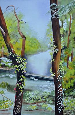 Wall Art - Painting - Fire's Creek Park by Terry Arroyo Mulrooney