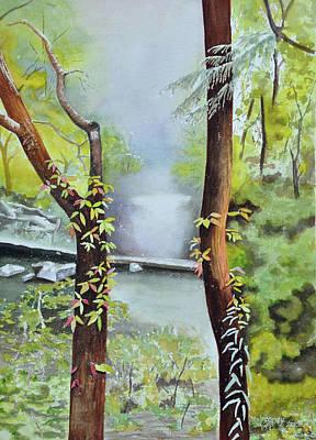 Wall Art - Painting - Fire's Creek by Terry Arroyo Mulrooney