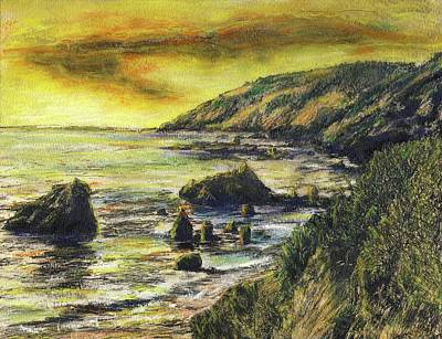 Fires Over Big Sur Art Print by Randy Sprout