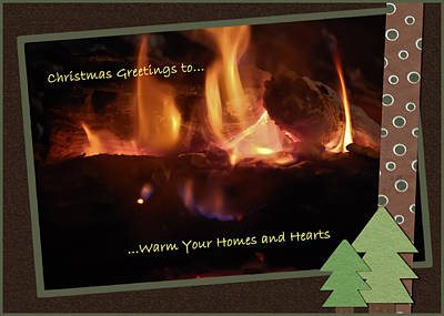 Vicky Browning Photograph - Fireside Christmas Greeting by DigiArt Diaries by Vicky B Fuller