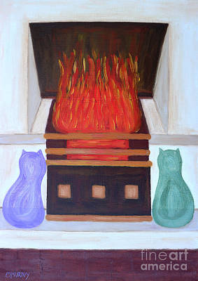 Comfort Painting - Fireside With You by Patrick J Murphy