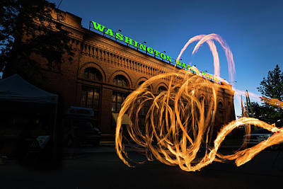 Firespinner Spokane Wa Art Print by Steve Gadomski