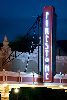 Photograph - Firestone Service Store Sign Fort Worth by Rospotte Photography