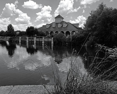 Photograph - Firethorne Clubhouse Bw by Connie Fox