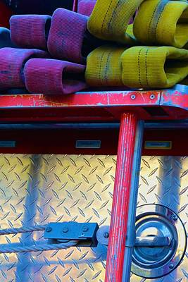 Photograph - Firetruck Composition by Polly Castor