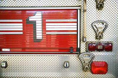 Firetruck Detail I Art Print by Kicka Witte - Printscapes