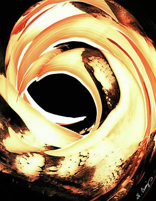 Orange Painting - Firewater 4 by Sharon Cummings