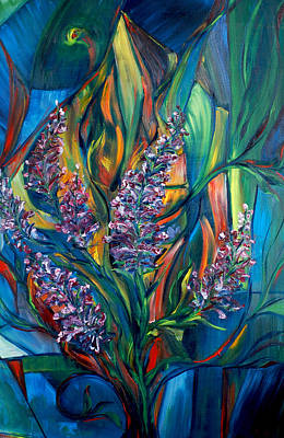 Fireweed Painting - Fireweed Bouquet by Jennifer Christenson