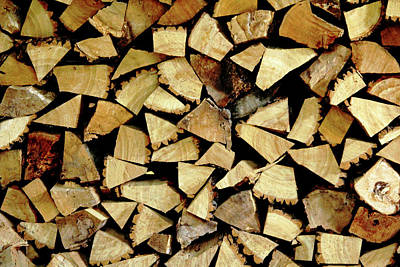 Photograph - Firewood Abstract by Debbie Oppermann