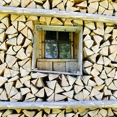 Photograph - Firewood by Frank Tschakert