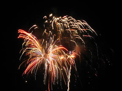 Art Print featuring the photograph Firework 1 by Michael Albright