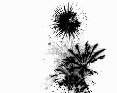 Fantasy Drawings - Firework Abstract 9 by Michelle Calkins