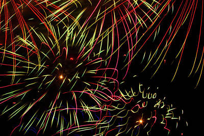 Photograph - Firework Abstract by Bonnie Follett