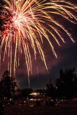 Photograph - Firework Explosion by Tyson Kinnison