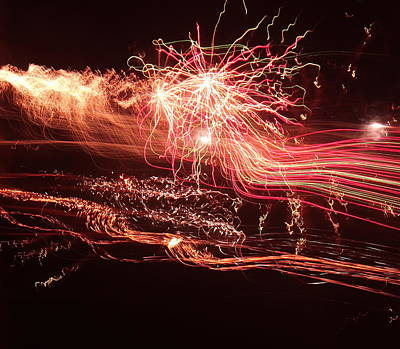 Photograph - Firework Fantasy  by Rosemary Colyer