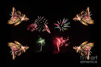 Photograph - Firework Frenzy by Steve Purnell