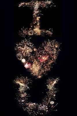 Firework Love Art Print