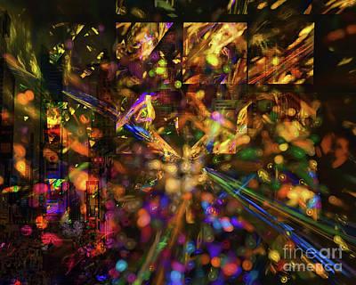 Digital Art - Firework Reflection by Olga Hamilton