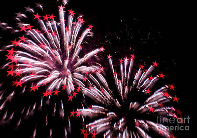 Firework Stars Print by Colin Hunt