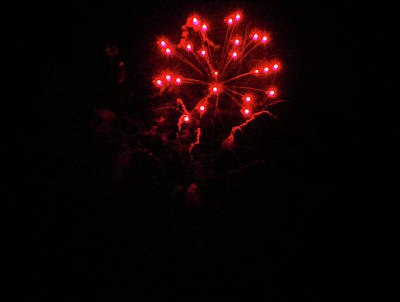 Red Fireworks Photograph - Firework by Wilma Stout