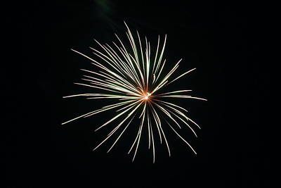 Photograph - Fireworks 002 by Larry Ward