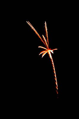 Photograph - Fireworks 003 by Larry Ward