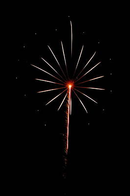 Photograph - Fireworks 005 by Larry Ward