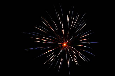 Photograph - Fireworks 007 by Larry Ward