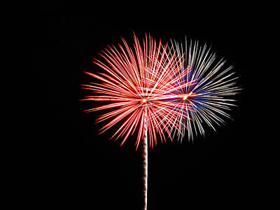 Photograph - Fireworks 01 by RLH Photography