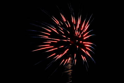 Photograph - Fireworks 010 by Larry Ward
