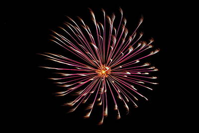 Photograph - Fireworks 023 by Larry Ward