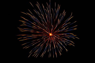 Photograph - Fireworks 025 by Larry Ward