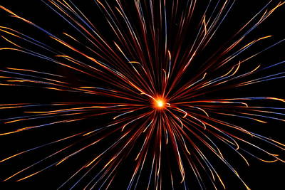 Photograph - Fireworks 026 by Larry Ward