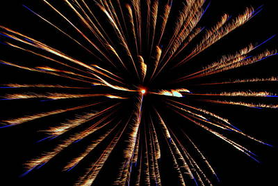 Photograph - Fireworks 029 by Larry Ward